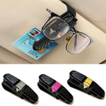 Newly Carbon Fiber Spectacle Frame Car Glasses Double-ended Clip Built-in Sponge 360 Degree Rotation FIF66