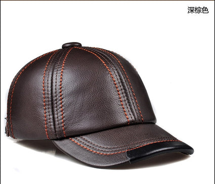 Svadilfari New 2018 High Quality Genuine Leather Adjustable Solid Color Baseball Caps Unisex Couple Fashion Leisure Casual Hats