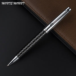 MONTE MOUNT luxury pen carbon fiber pen material crystal writing gel Roller Ball Pen Luxury Ballpoint Pen For Business school