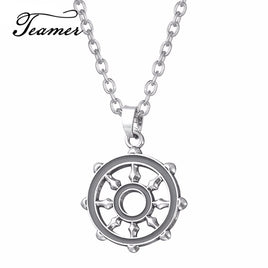 Teamer Wheel Sliver Slavic Amulet Punk pendant Norse Occult Symbol Pendant Germanic men necklace