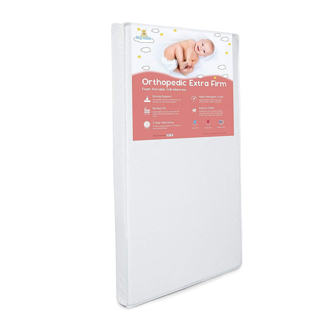 Big Oshi Portable Crib Mattress - 3