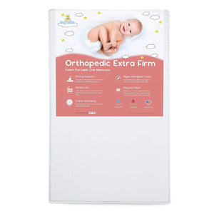 "Big Oshi Portable Crib Mattress - 3"" Thick White"