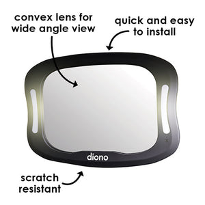 Diono Easy View XXL Car Mirror with Dual LED Lights