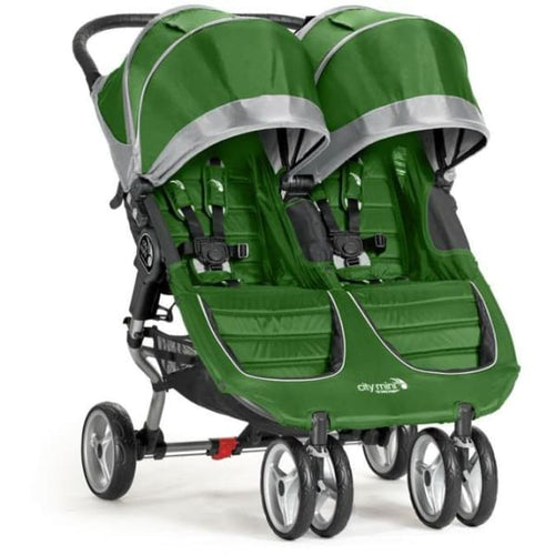 Baby Jogger City Mini Double Stroller - Evergreen / Gray - Double Stroller