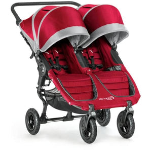 Baby Jogger City Mini GT Double Stroller - Crimson / Gray - Double Stroller