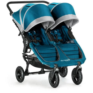 Baby Jogger City Mini GT Double Stroller - Teal / Gray - Double Stroller