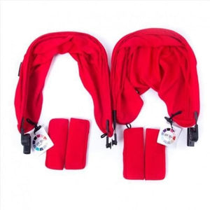 Baby Monsters Easy Twin 2.0 Color Accessories Pack - includes Canopies Liners Shoulder Pads - Red - Stroller Sun Shade Canopy