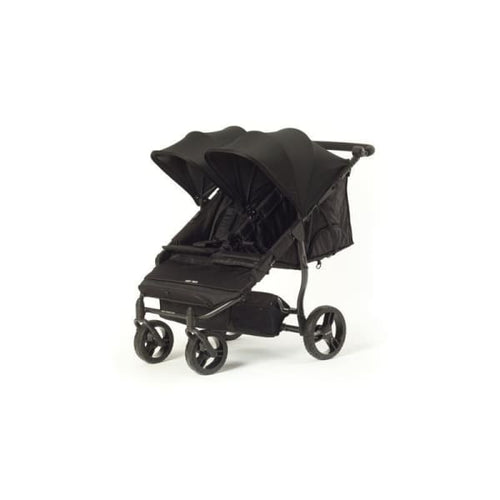 Baby Monsters Easy Twin 2.0 Complete Double Stroller - Black - Double Stroller