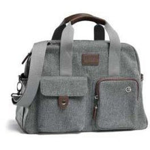 Load image into Gallery viewer, Bowling Style Changing Bag - Grey Twill - Stroller Bag