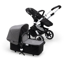 Load image into Gallery viewer, Bugaboo Buffalo+ Complete Stroller Set - ALUMINUM / BLACK + GREY MELANGE - Convertible Stroller