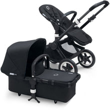 Load image into Gallery viewer, Bugaboo Buffalo+ Complete Stroller Set - BLACK / BLACK + BLACK - Convertible Stroller