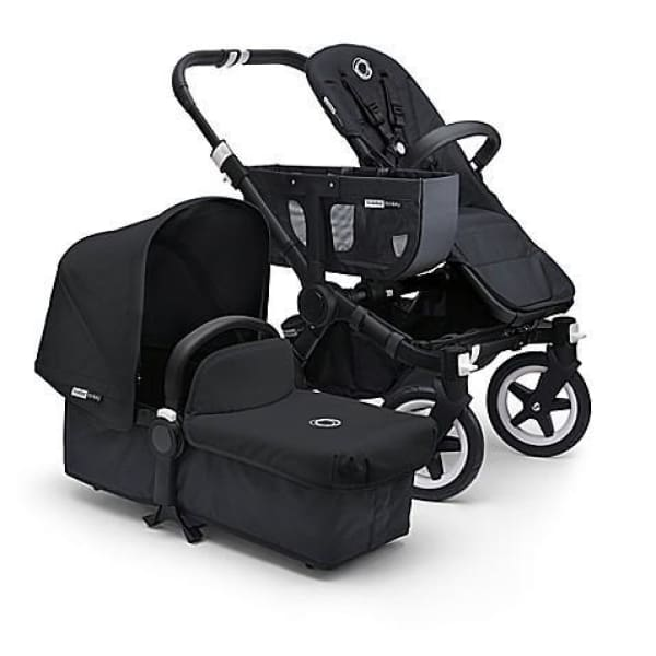 Bugaboo Donkey Classic Mono Complete Stroller Set - BLACK / BLACK + BLACK - Convertible Stroller