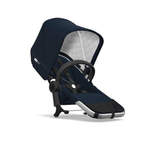Bugaboo Donkey² Duo Extension Set Complete - Classic: Aluminum / Dark Navy - Double Stroller
