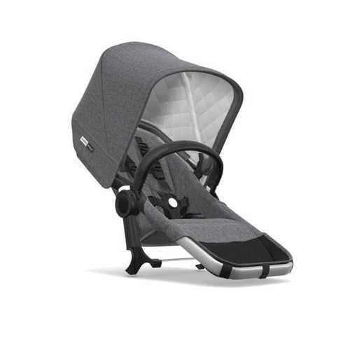 Bugaboo Donkey² Duo Extension Set Complete - Classic: Aluminum / Grey Melange - Double Stroller