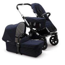Load image into Gallery viewer, Bugaboo Donkey² Mono Extension Set Complete Set - Classic: Aluminum / Dark Navy - Convertible Stroller