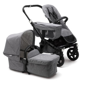 Bugaboo Donkey² Mono Extension Set Complete Set - Classic: Black / Grey Melange - Convertible Stroller