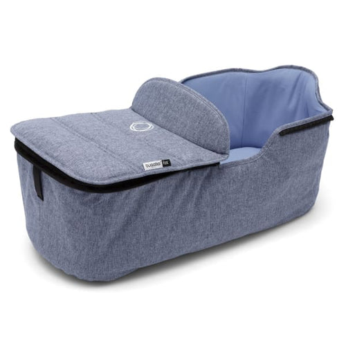 Bugaboo Fox Bassinet Tailored Fabric Set - BLUE MELANGE - Stroller Bassinet