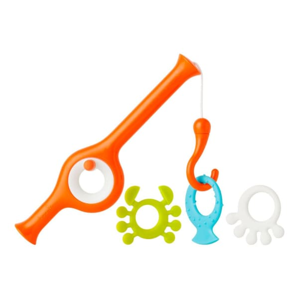 Cast Fishing Pole Bath Toy Multicolor Orange - Baby Bath & Potty
