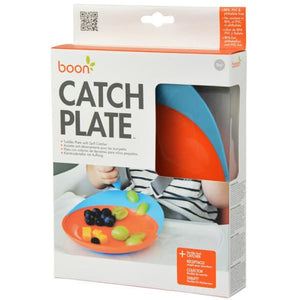 Catch Plate With Spill Catcher - Blue/Orange - Baby Feeding