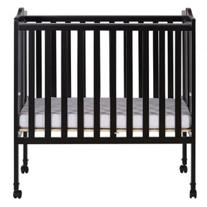 Dream On Me 2 in 1 Lightweight Folding Portable Crib - Black - Portable Folding Crib