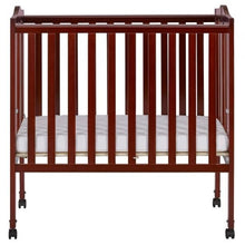 Load image into Gallery viewer, Dream On Me 2 in 1 Lightweight Folding Portable Crib - Cherry - Portable Folding Crib