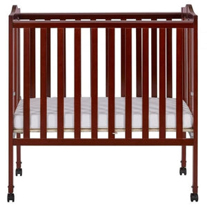 Dream On Me 2 in 1 Lightweight Folding Portable Crib - Cherry - Portable Folding Crib