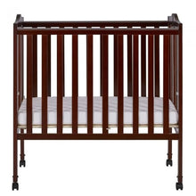 Load image into Gallery viewer, Dream On Me 2 in 1 Lightweight Folding Portable Crib - Espresso - Portable Folding Crib