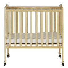 Load image into Gallery viewer, Dream On Me 2 in 1 Lightweight Folding Portable Crib - Natural - Portable Folding Crib