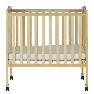 Dream On Me 2 in 1 Lightweight Folding Portable Crib - Natural - Portable Folding Crib
