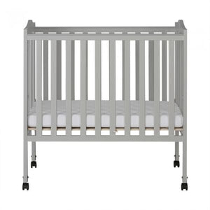 Dream On Me 2 in 1 Lightweight Folding Portable Crib - Pebble Grey - Portable Folding Crib