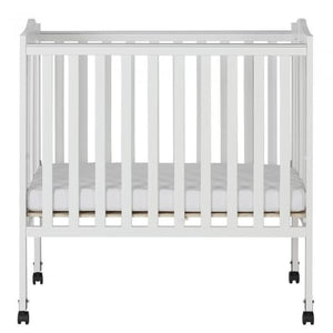 Dream On Me 2 in 1 Lightweight Folding Portable Crib - White - Portable Folding Crib