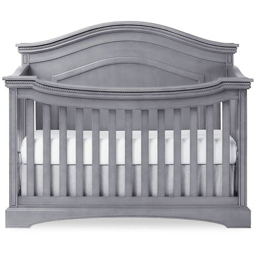 Evolur WINDSOR (CURVED TOP)/ADORA 5-in-1 Convertible Crib - Storm Grey / Steel Grey - Crib
