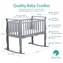 Load image into Gallery viewer, Green Frog Now & Forever Cradle - Portable Folding Crib