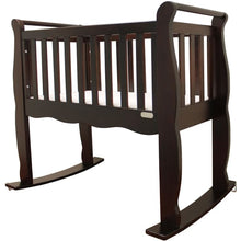 Load image into Gallery viewer, Green Frog Now & Forever Cradle - Espresso - Portable Folding Crib