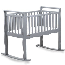 Load image into Gallery viewer, Green Frog Now & Forever Cradle - Gray - Portable Folding Crib