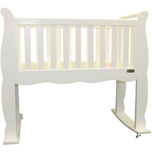 Green Frog Now & Forever Cradle - White - Portable Folding Crib