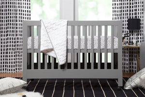 Babyletto Maki Full Size Portable Folding Crib With Toddler Bed Conversion Kit
