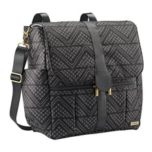 Load image into Gallery viewer, JJ Cole Backpack Diaper Bag - Black Aztec/Chevron - Stroller Bag