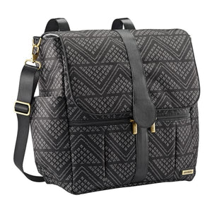 JJ Cole Backpack Diaper Bag - Black Aztec/Chevron - Stroller Bag