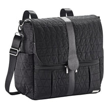Load image into Gallery viewer, JJ Cole Backpack Diaper Bag - Black Triangle Stitch - Stroller Bag