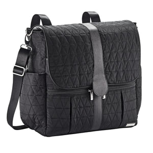 JJ Cole Backpack Diaper Bag - Black Triangle Stitch - Stroller Bag