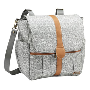 JJ Cole Backpack Diaper Bag - Grey Moroccan - Stroller Bag
