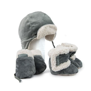 JJ Cole Bomber Original Hat Mittens Gloves - Graphite - Stroller Footmuff