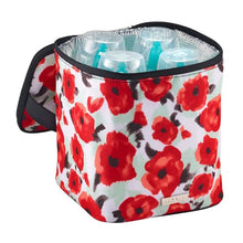 Load image into Gallery viewer, JJ Cole Bottle Cooler - Holds Four (4) - Poppy Garden - Baby Feeding