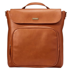 JJ Cole Brookmont Backpack - Cognac Brown Pu - Stroller Bag
