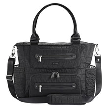 Load image into Gallery viewer, JJ Cole Caprice Diaper Bag - Black Triangle Stitch - Stroller Bag