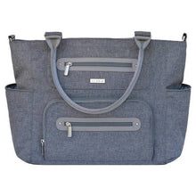 Load image into Gallery viewer, JJ Cole Caprice Diaper Bag - Heather Grey - Stroller Bag
