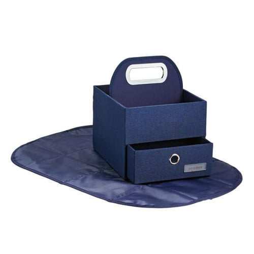 JJ Cole Diapers & Wipes Caddy - Navy Heather - Storage & Organization