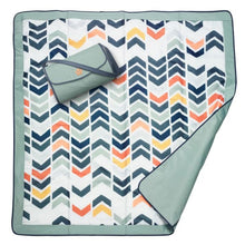 Load image into Gallery viewer, JJ Cole Outdoor Mat - Beach Chevron / 5 X 5 - Play Mat