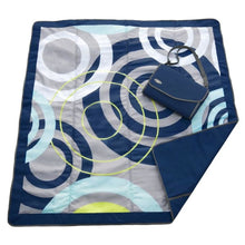 Load image into Gallery viewer, JJ Cole Outdoor Mat - Blue Orbit / 5 X 5 - Play Mat